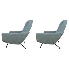 Pair of 1950 Armchairs by A.Motte, Steiner Edition