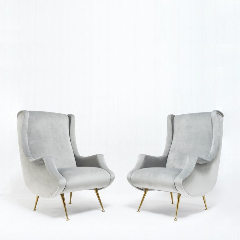 Mid-Century Modern Pair of armchairs by ISA Bergamo - Italy, 1950s For Sale