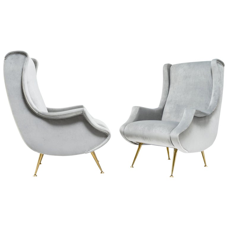 Pair of armchairs by ISA Bergamo - Italy, 1950s For Sale