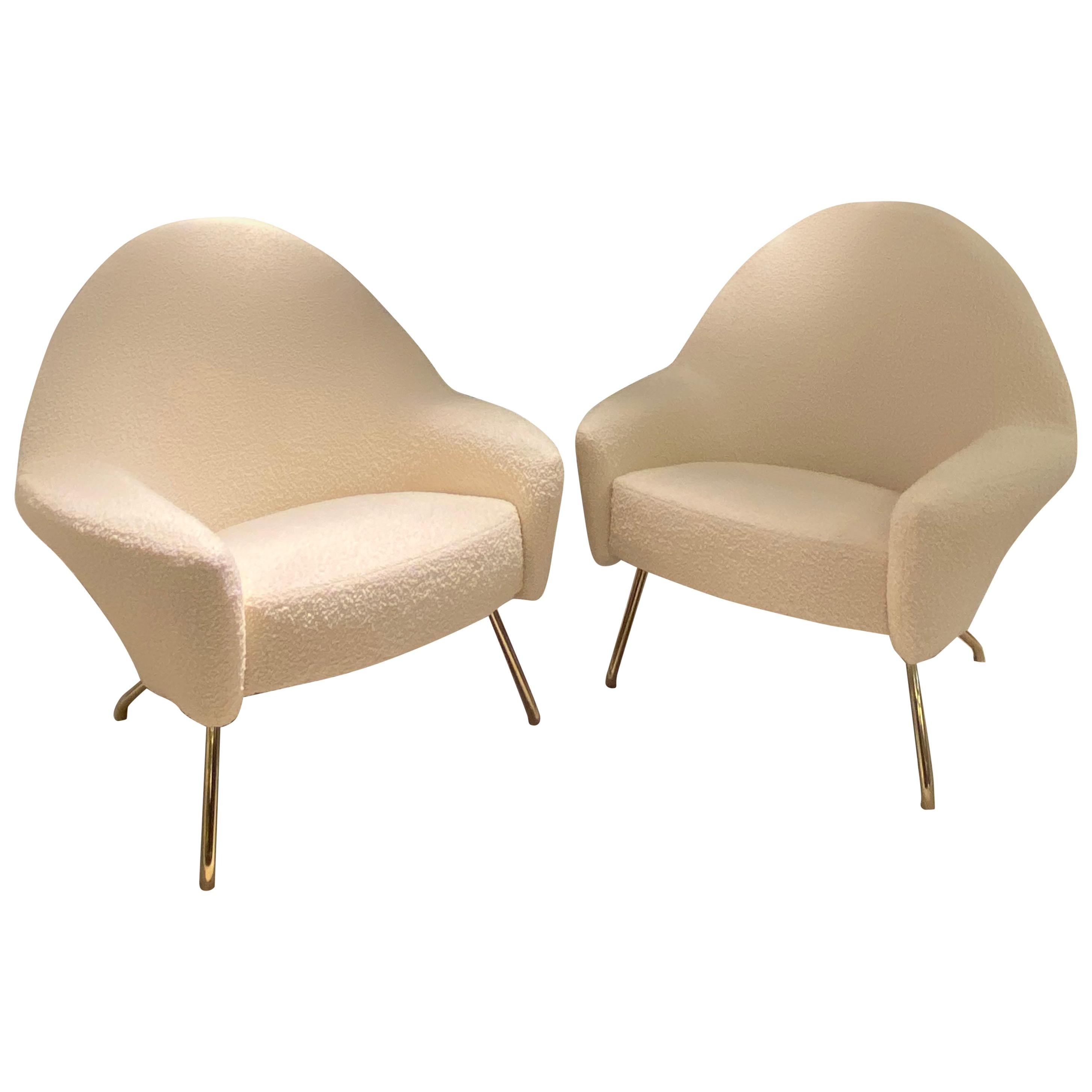 Pair of 1950s Armchairs by Joseph Andre Motte