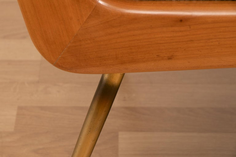 20th Century Pair of 1950s Boomerang Cherrywood Armchairs Hans Mitzlaff for Soloform, Germany