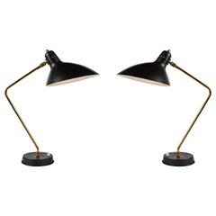 Pair of 1950s Boris Lacroix Table Lamps