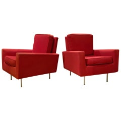Pair of 1950s Club Chairs by Florence Knoll