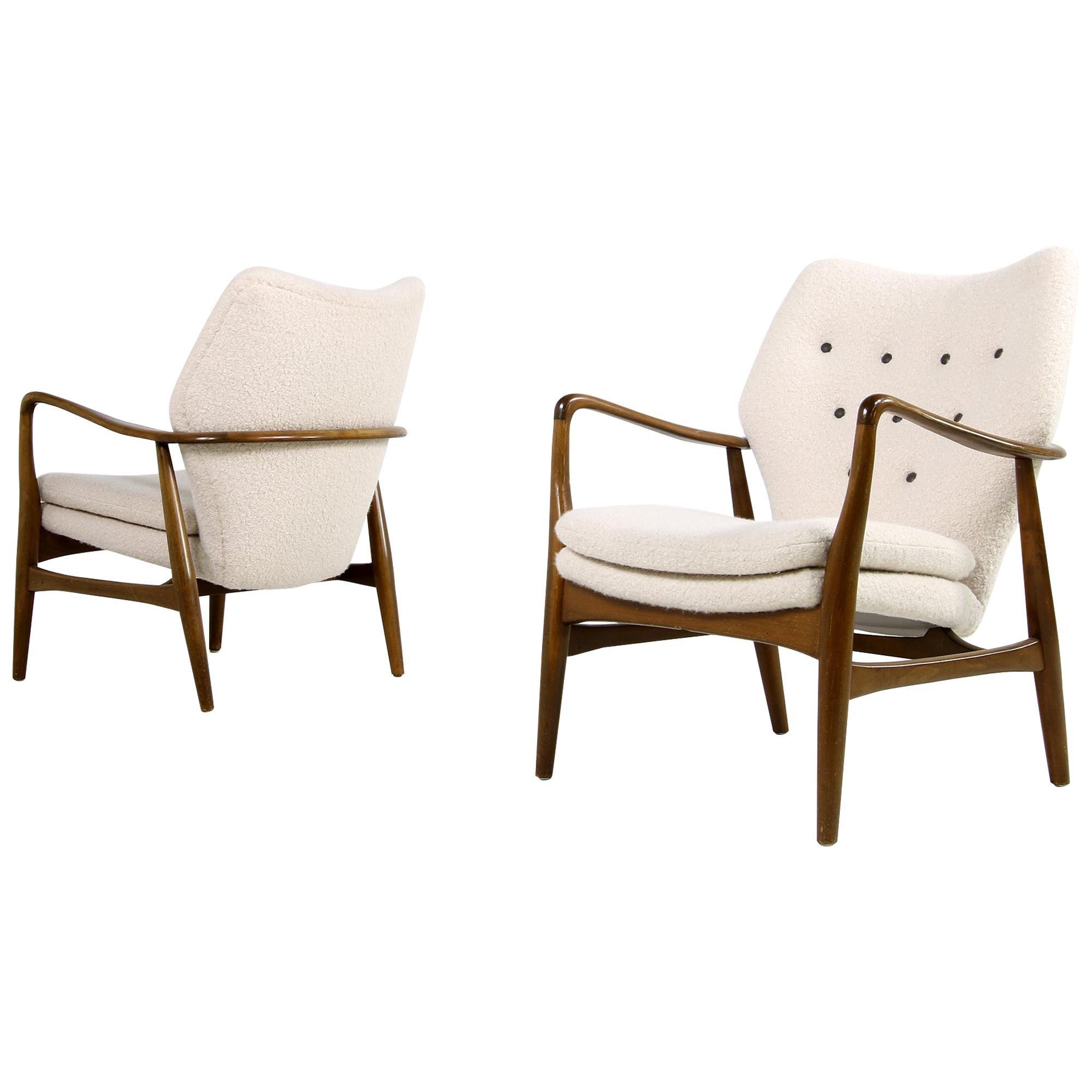 Pair of 1950s Danish Organic Lounge Chairs Ib Madsen & Acton Schubell, Denmark