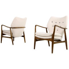 Pair of 1950s Danish Organic Lounge Chairs Ib Madsen & Acton Schubell, Denmark