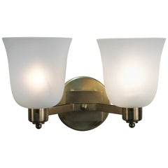 Pair of 1950s Double Arm Wall Sconces by Jean Perzel