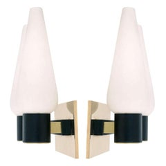 Pair of 1950s Double Sconces by Maison Arlus