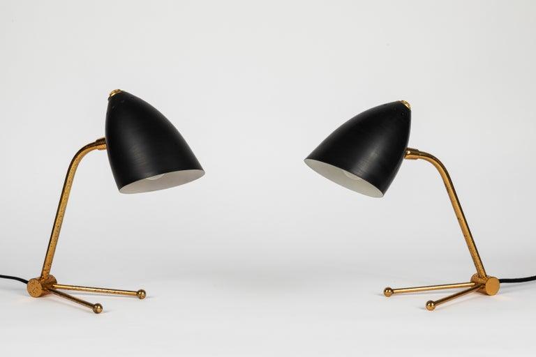 Scandinavian Modern Pair of 1950s Finnish Table Lamps Attributed to Mauri Almari