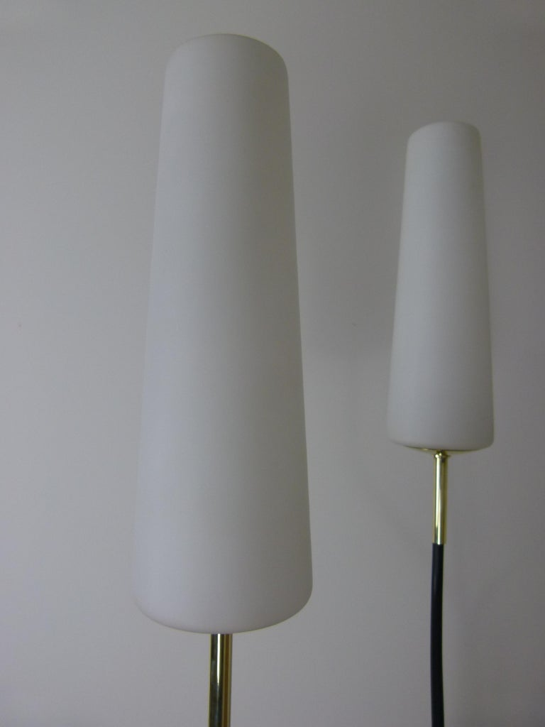 Pair of 1950s Floor Lamp with Three Lighted Arms by Maison Lunel For Sale 5