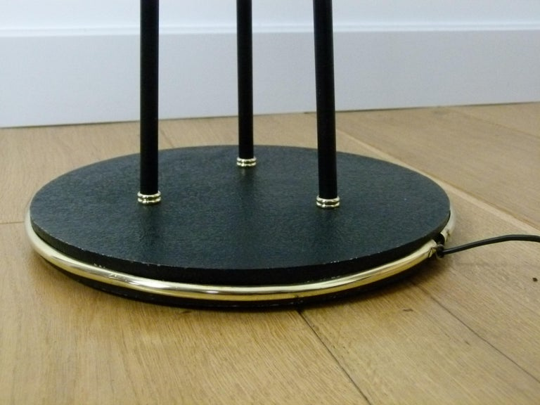 Pair of 1950s Floor Lamp with Three Lighted Arms by Maison Lunel For Sale 11