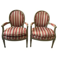 Pair of 1950s French Louis XVI Armchairs