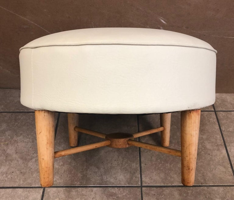 Directoire Pair of 1950s, French Ottomans For Sale
