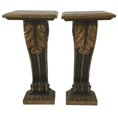 Pair of 1950s Giltwood French Empire Style Consoles