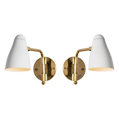 Pair of 1950s Giuseppe Ostuni Articulating Arm Sconces for O-Luce