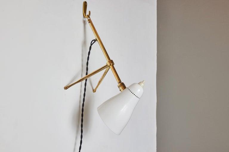 Pair of 1950s Giuseppe Ostuni 'Ochetta' Wall or Table Lamps for O-Luce For Sale 11
