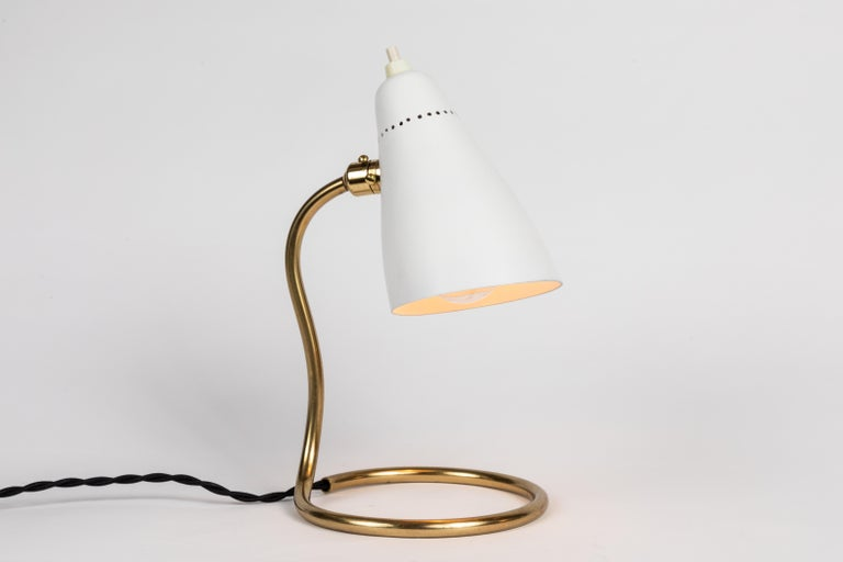 Mid-Century Modern Pair of 1950s Giuseppe Ostuni 'Vipere' Table Lamps for O-Luce For Sale