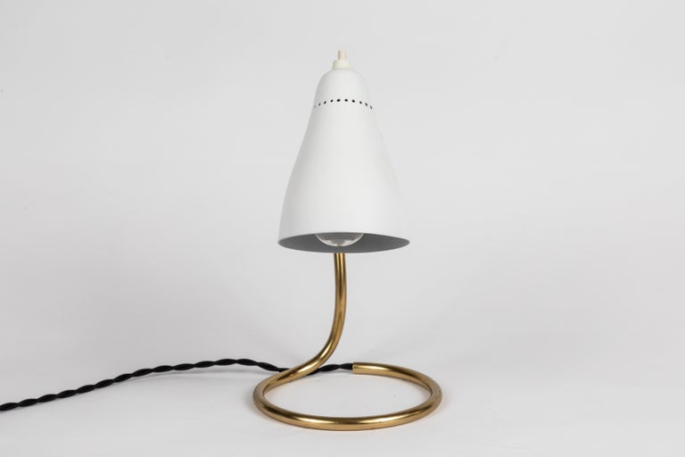 Mid-20th Century Pair of 1950s Giuseppe Ostuni 'Vipere' Table Lamps for O-Luce For Sale