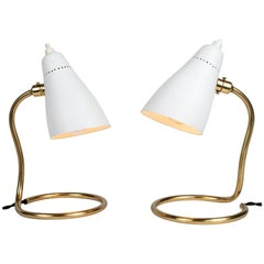 Pair of 1950s Giuseppe Ostuni 'Vipere' Table Lamps for O-Luce