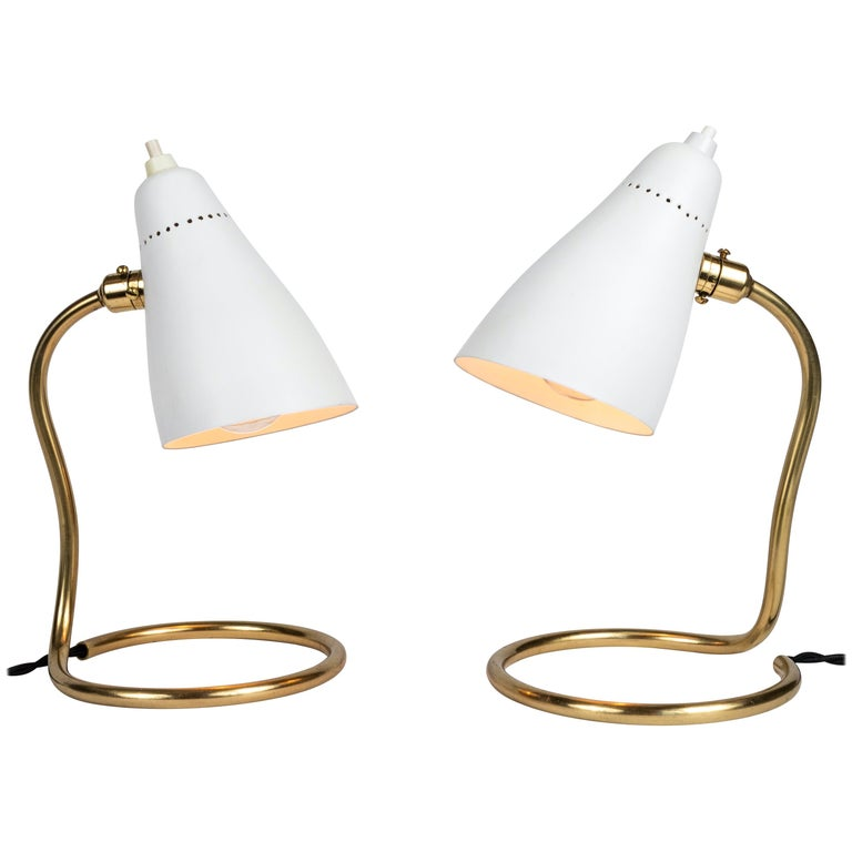 Pair of 1950s Giuseppe Ostuni 'Vipere' Table Lamps for O-Luce For Sale