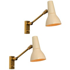 Pair of 1950s Giuseppe Ostuni Wall Lamps for O-Luce
