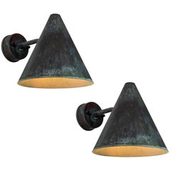 Pair of 1950s Hans-Agne Jakobsson 'Tratten' Outdoor Sconces