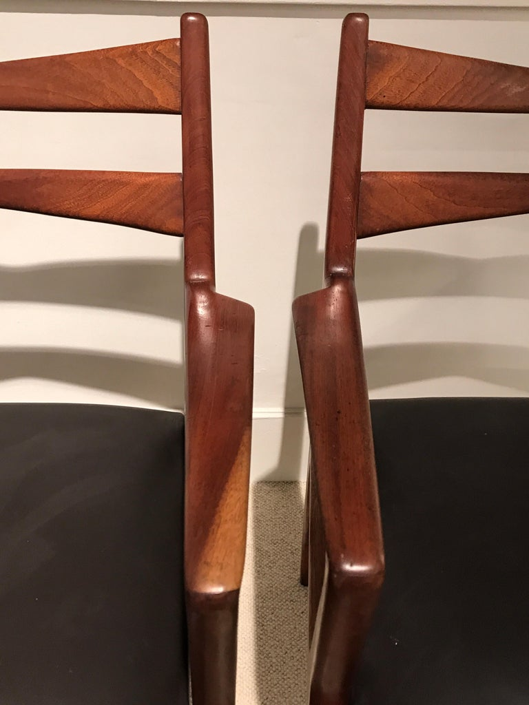Pair of 1950s Italian Armchairs In Good Condition For Sale In Saint-Ouen, FR