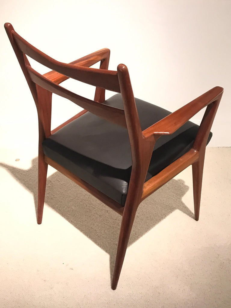 Mid-20th Century Pair of 1950s Italian Armchairs For Sale