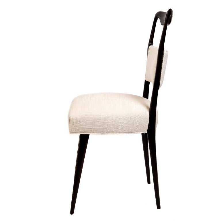 Streamlined Moderne Pair of 1950s Italian Dinning/Occasional Chairs by Vittorio Dassi For Sale