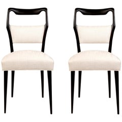 Pair of 1950s Italian Dinning/Occasional Chairs by Vittorio Dassi