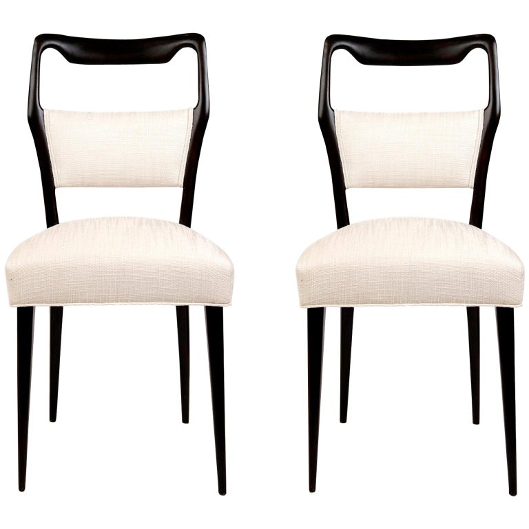 Pair of 1950s Italian Dinning/Occasional Chairs by Vittorio Dassi For Sale