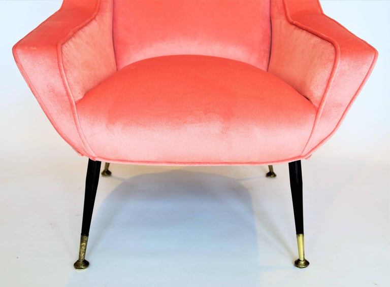 20th Century Pair of 1950s Italian Lounge Chairs in the Style of Gigi Radice For Sale