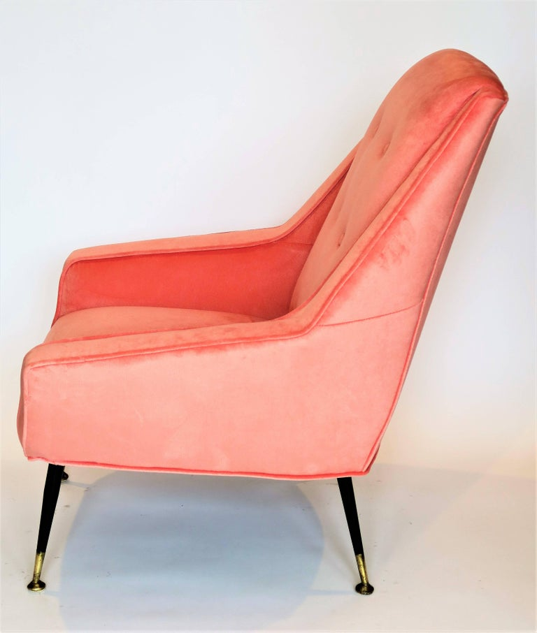 Pair of 1950s Italian Lounge Chairs in the Style of Gigi Radice For Sale 1