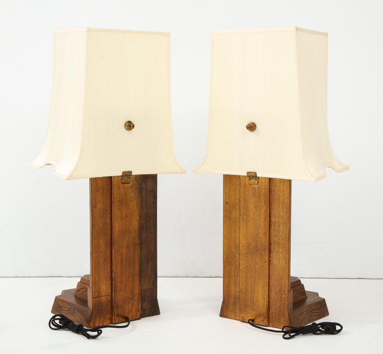 American Pair of 1950s James Mont Lamps For Sale