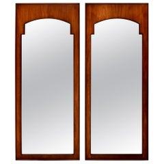 1950s John Stuart Arts & Crafts Style Walnut Mirrors