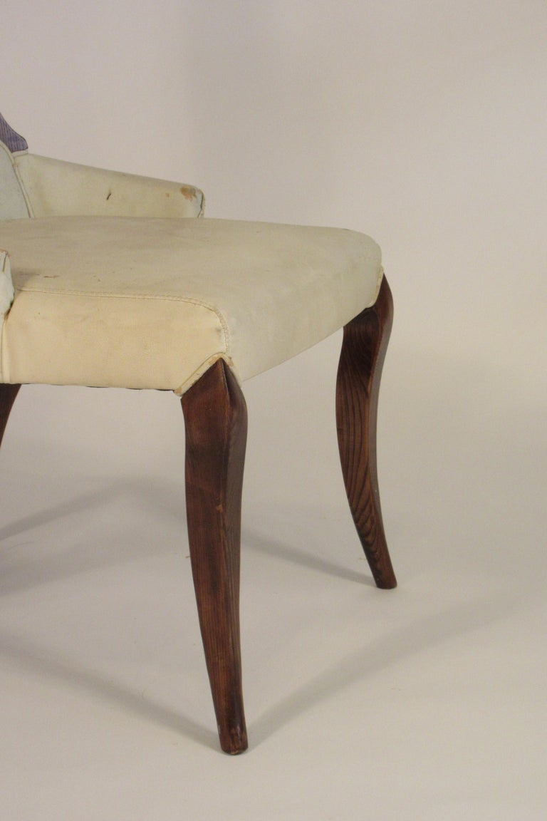 Pair of 1950s Klismos Side Chairs For Sale 6