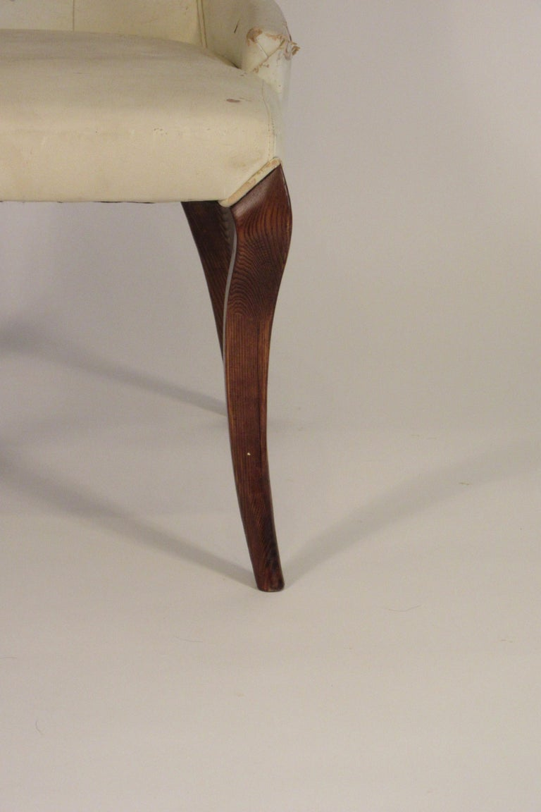 Pair of 1950s Klismos Side Chairs For Sale 9
