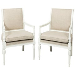 Pair of 1950s Louis XV Style Armchairs