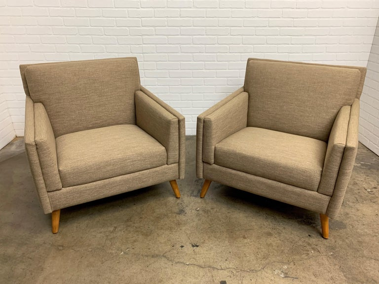 Pair of 1950s Lounge Chairs For Sale 4