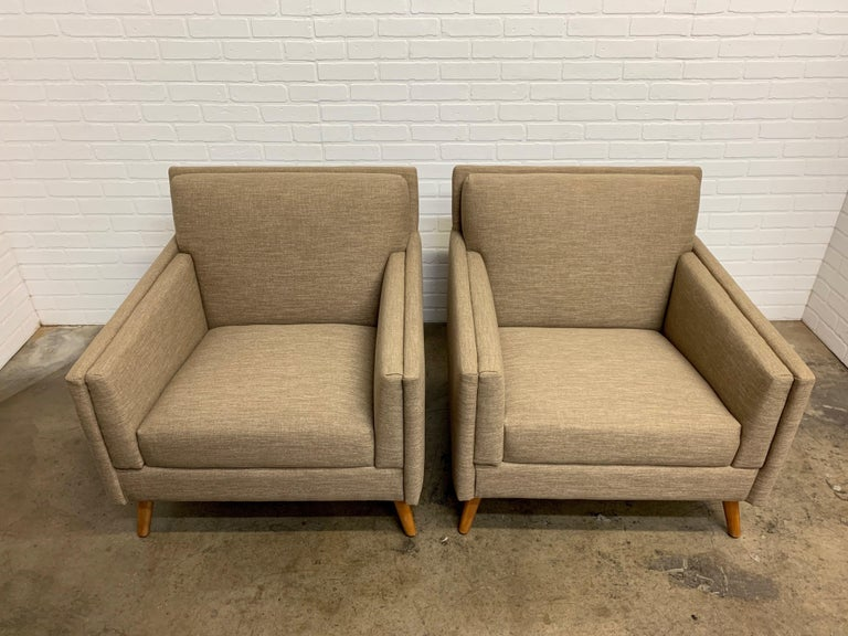 Pair of 1950s Lounge Chairs For Sale 5