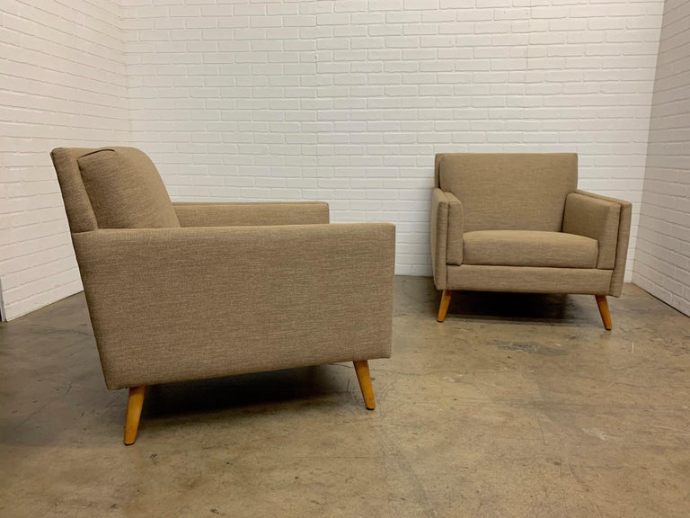 Pair of 1950s Lounge Chairs For Sale 8