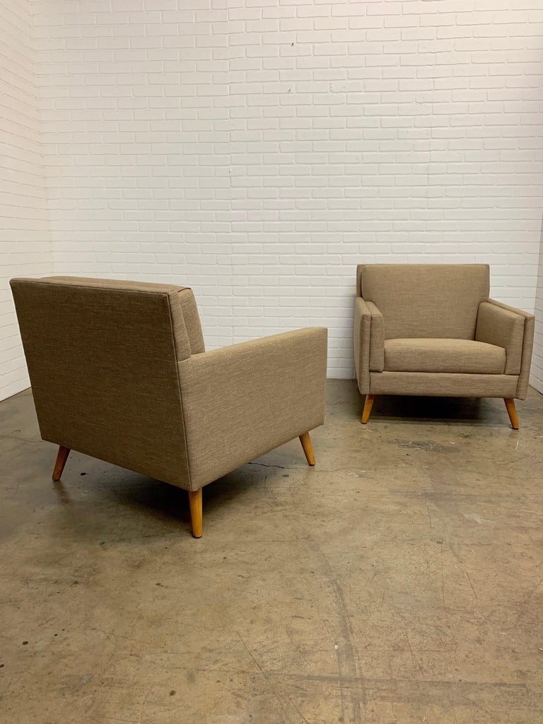 Pair of 1950s Lounge Chairs For Sale 9