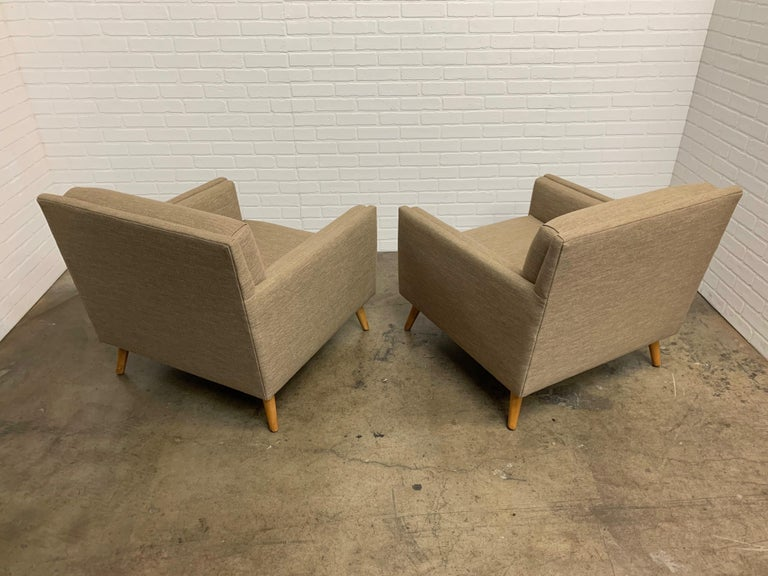 Upholstery Pair of 1950s Lounge Chairs For Sale
