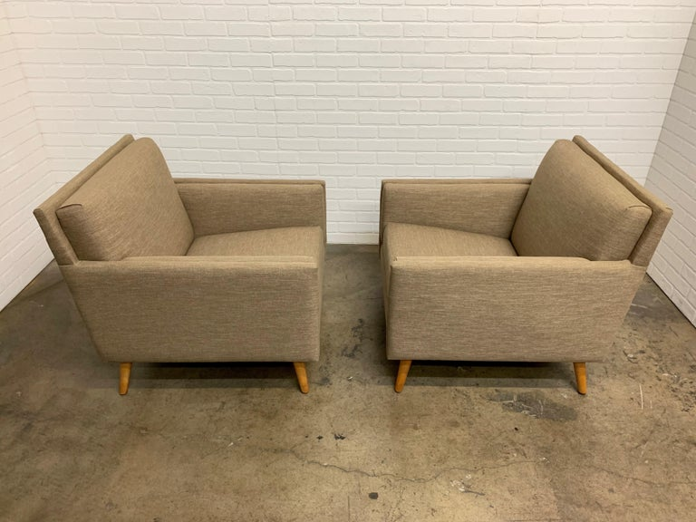 Pair of 1950s Lounge Chairs For Sale 2
