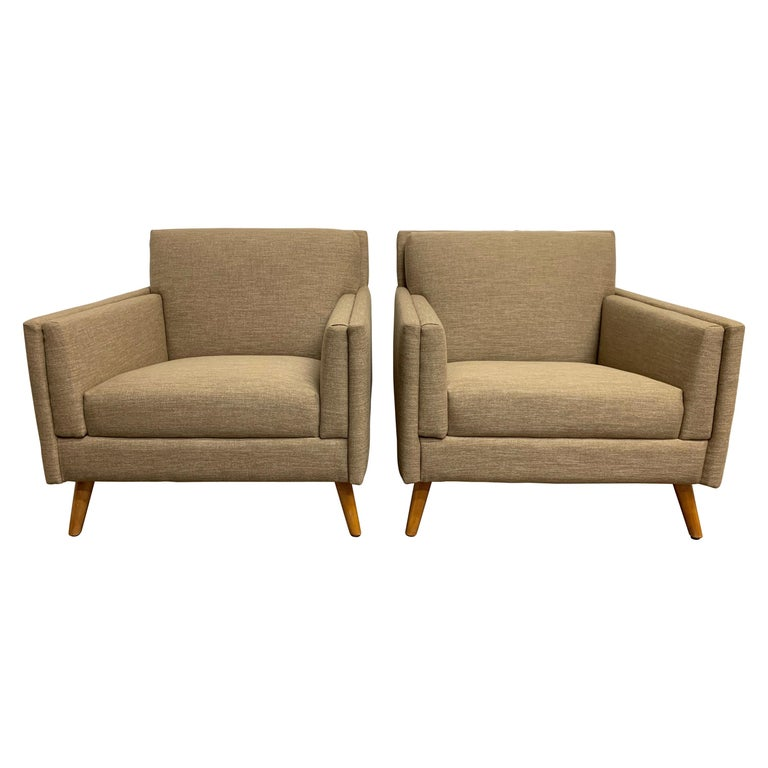Pair of 1950s Lounge Chairs For Sale
