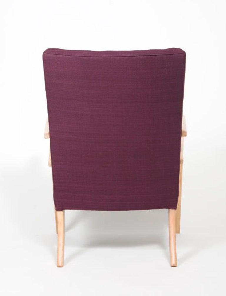 Fabric Pair of 1950s Mid-Century Modern Italian Armchairs For Sale