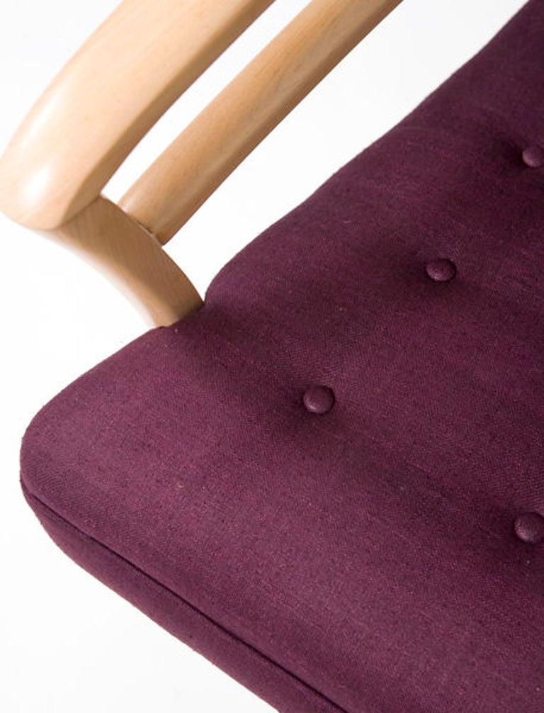 Pair of 1950s Mid-Century Modern Italian Armchairs For Sale 1