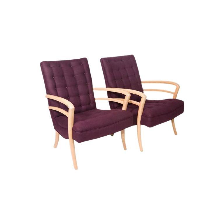 Pair of 1950s Mid-Century Modern Italian Armchairs For Sale