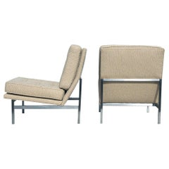 Pair of 1950s Midcentury Florence Knoll Lounge Chairs