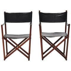 Pair of 1950s Mogens Koch MK-16 Safari Folding Chairs