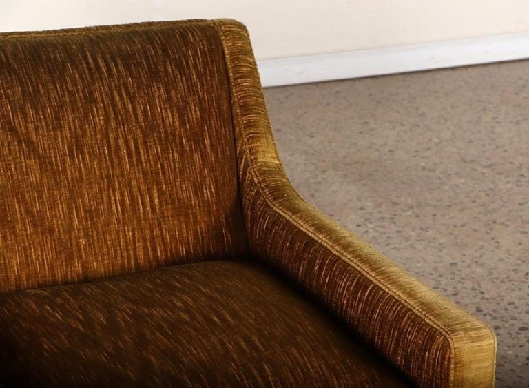 Mid-20th Century Pair of 1950s Mohair Lounge Chairs For Sale